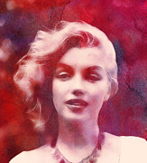 Sex Symbol Paintings - The Monroe by Stefan Kuhn