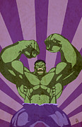 Hulk Metal Prints - The Monster Metal Print by Dave Drake