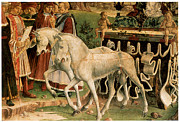 Carriage Horses Paintings - The Month of March by Francesco Del Cossa