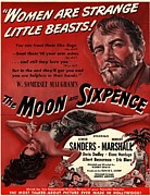 Films Drawings Framed Prints - The Moon And Sixpence 1943 1940s Usa Framed Print by The Advertising Archives