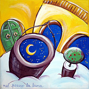 Yards Painting Framed Prints - The Moon In The Well Framed Print by Raffaella Di Vaio
