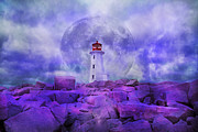 Fantasyland Posters - The Moon Knows Where to Rise Poster by Betsy A Cutler East Coast Barrier Islands
