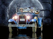 Model A Digital Art - The Moonlight Cruise ..... by Rat Rod Studios