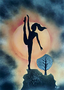 Dancing Girl Paintings - The Moons Eclipse. by Kenneth Clarke
