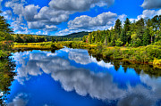 Fir Trees Photos - The Moose River from the Green Bridge by David Patterson