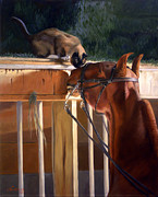 Siamese Paintings - The Morning Buzz by Jeanne Newton Schoborg