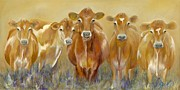 Cow Metal Prints - The Morning Moo Metal Print by Catherine Davis