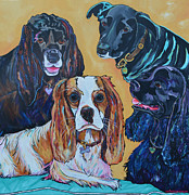 Commissions  Paintings - The Moseley Gang by Patti Schermerhorn