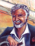 Alcohol Pastels Prints - The Most Interesting Man in the World Print by Samantha Geernaert