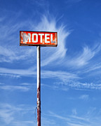 Red White And Blue Prints Prints - THE MOTEL SIGN Palm Springs Print by William Dey
