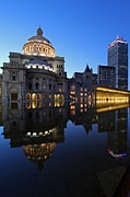 Back Bay Prints - The Mother Church and The Pru Print by Juergen Roth