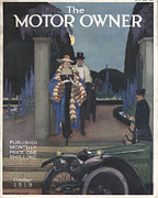 Nineteen-tens Art - The Motor Owner 1919 1910s Uk Cars by The Advertising Archives