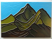 Featured Tapestries - Textiles Originals - The Mountain by Jeler Anita LeatherArt