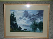 Frames Tapestries - Textiles Originals - The Mountain by Mark Zsolt