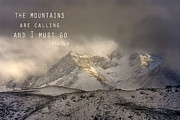 Lanscape Posters - The Mountains are calling and I must go  John Muir Vintage Poster by Guido Montanes Castillo