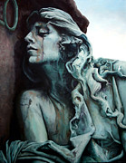 Italy Sculpture Framed Prints - The Mourner Framed Print by Kathleen English-Barrett