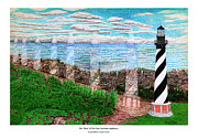 Lighthouse Drawings - The Move of the Cape Hatteras Lighthouse by Frank Evans