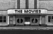 Movie Theater Framed Prints - The Movies - Black and White Framed Print by Paul Ward