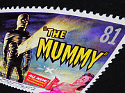 Mummies Posters - The Mummy Postage Stamp Print Poster by Andy Prendy