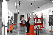 Red Art Ceramics Prints - The Museum Print by Viesel