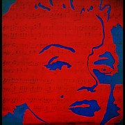 Norma Jean Posters - The music in Marilyn Monroe Poster by Robert Margetts