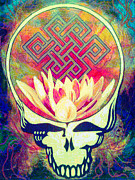 Hippie Painting Prints - The Music Never Stops Print by Kevin J Cooper Artwork