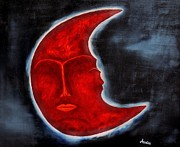 In My Heart Posters - The Mysterious Moon - Original Oil Painting Poster by Marianna Mills