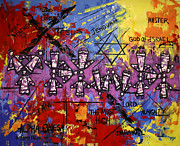 Expressionism Mixed Media Posters - The Name Of God Poster by Anthony Falbo