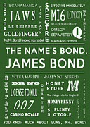 Quotes Digital Art - The names Bond in Green by Nomad Art And  Design