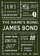 James Bond Film Framed Prints - The names Bond in Khaki Framed Print by Nomad Art And  Design