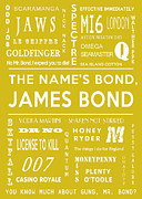James Bond Film Framed Prints - The names Bond in Yellow Framed Print by Nomad Art And  Design