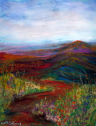 Mountain Road Pastels Prints - The Narrow Path Print by Beth Sebring