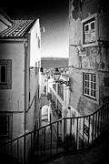 The Narrow Streets Of Alfama Print by Jose Elias - Sofia Pereira