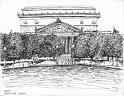 Washington D.c. Mixed Media - The National Archives by Jason Axtell