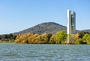 The National Carillon And Lake Burley Griffin - Canberra - Australia Print by David Hill