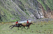 Polo Photos - The national sport of Ulak Tartysh in Kyrgyzstan by Robert Preston