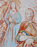Nativity Paintings - The Nativity by Addie May Hirschten