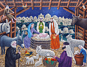 Manger Art - The Nativity by Ronald Haber