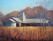 Edwin Warner Park Painting Prints - The Nature Center at Warner Park Print by Janet King