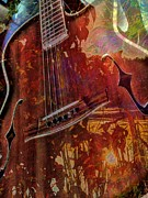 The Nature Of Music Digital Guitar Art By Steven Langston Print by Steven Lebron Langston