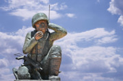 Telephone Art - The Navajo Code Talkers by Christine Till