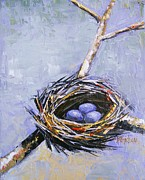 Birdnest Framed Prints - The Nest Framed Print by Brandi  Hickman
