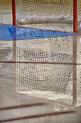 Hockey Photo Posters - The Net Reflection Poster by Karol  Livote