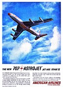 American Airlines Posters - The New 707 Poster by Benjamin Yeager