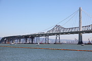 Bay Bridge Prints - The New And The Old Bay Bridge San Francisco Oakland California 5D25364 Print by Wingsdomain Art and Photography