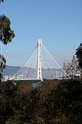 Bay Bridge Photos - The New And The Old Bay Bridge San Francisco Oakland California 5D25397 by Wingsdomain Art and Photography