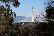 Bay Bridge Photos - The New And The Old Bay Bridge San Francisco Oakland California 5D25398 by Wingsdomain Art and Photography