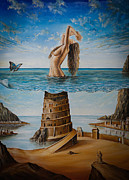 Surrealism Painting Acrylic Prints - The New Babylon Acrylic Print by Svetoslav Stoyanov