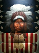 Comanche Paintings - The New Chief by David Grizzle