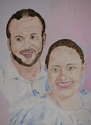 Bride And Groom Paintings - The New Couple by Michael Race